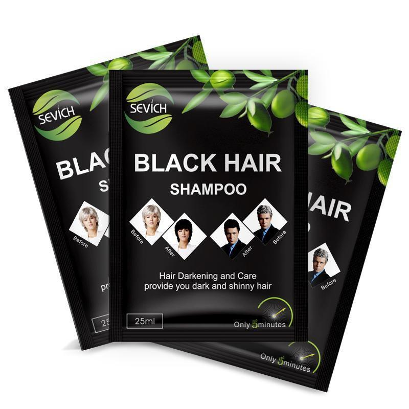 Hair Color Black Hair Shampoo (5 Sachets)