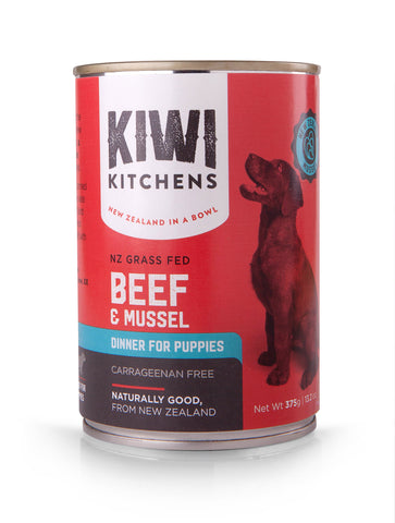 Puppy Beef and Mussel Dinner 375g Tray of 12