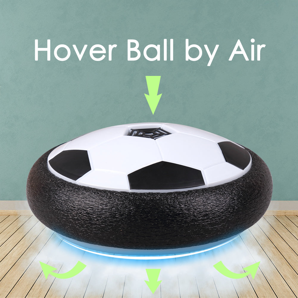 Hover Ball Kids Toys Rolytoy Toy Soccer Ball Size 4 Air Power Training Football with LED Light and Foam Bumpers Sports Toys Boys Girls for Indoor Outdoor Activities Toys Christmas Gift