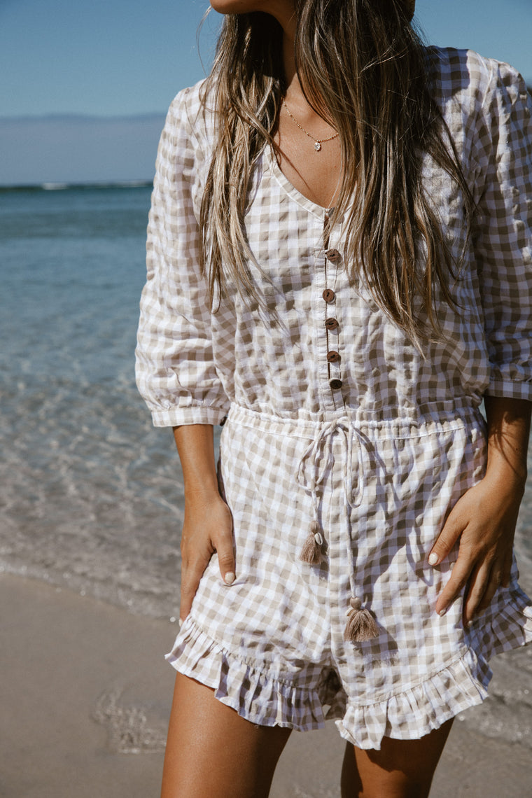 Gingham Jumpsuit