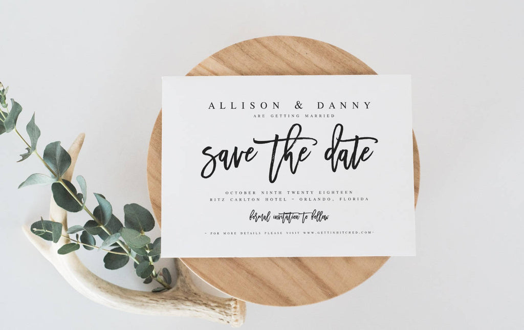 Save The Date Template DIY Shower Template PDF Save The Date Template  Wedding Printable Save Our