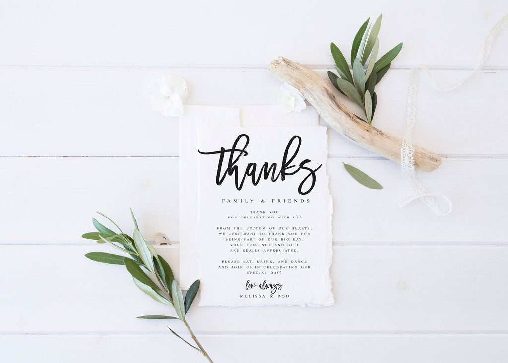 Modern wedding thank you letter template wedding thank you template modern wedding thank you letter template wedding thank you template thank you note template wedding letter maxwellsz