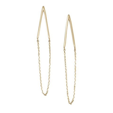 'Cristina' 14 Karat Gold Plated Chain Drop Earrings