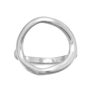 Marla's 'Karma' Textured Open Circle Ring
