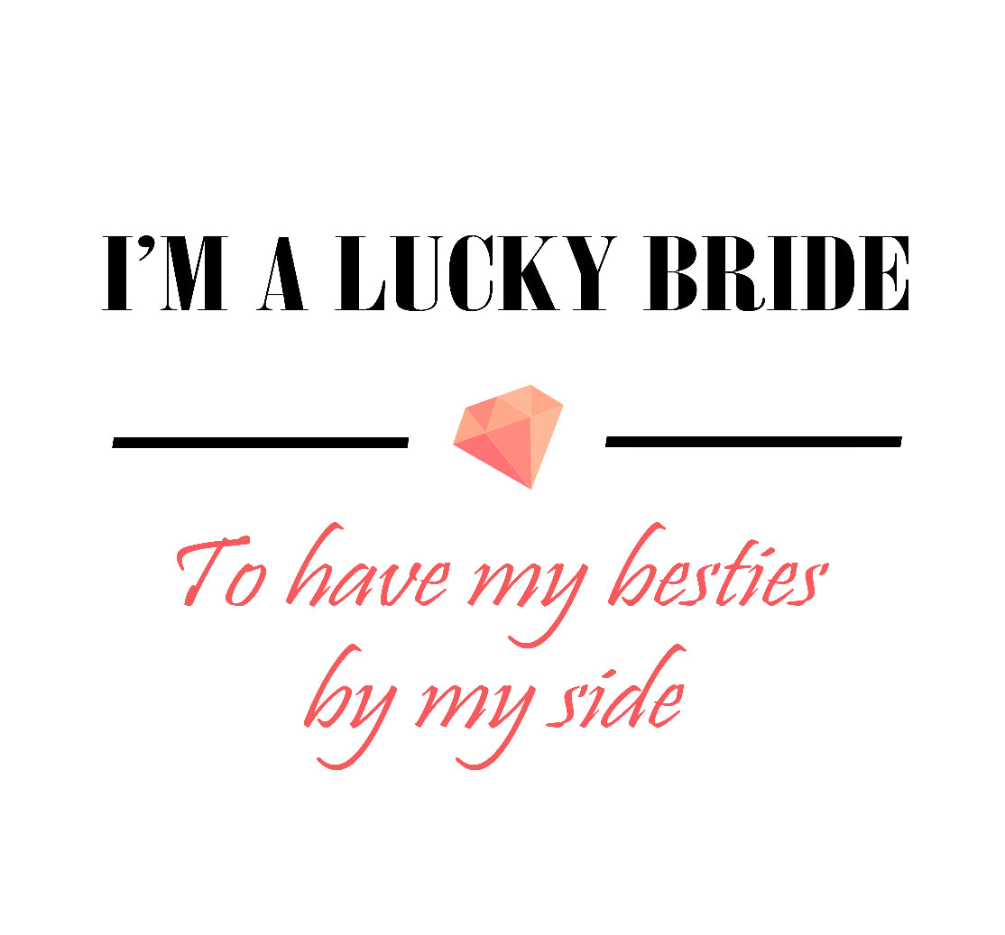 'Lucky Bride' Sticker