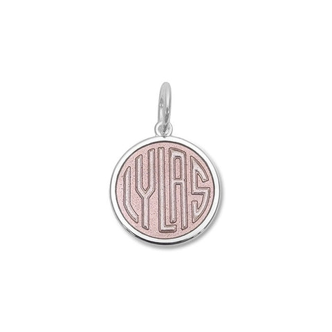 LYLAS Pendant - Small in Alpine White and Pink
