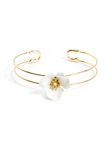 Blooming Lotus Cuff - White