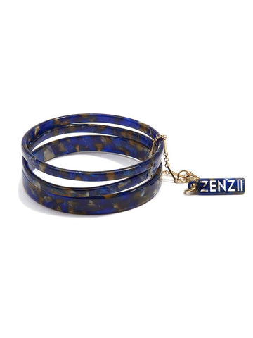 Tortoise Bangle Set - Navy