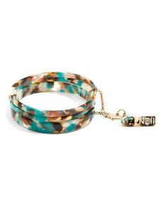 Tortoise Bangle Set - Teal