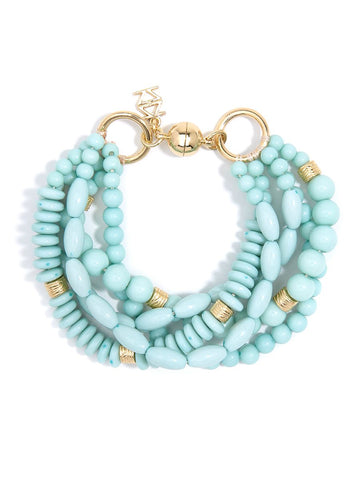 Mixed Beads Layered Bracelet - Mint