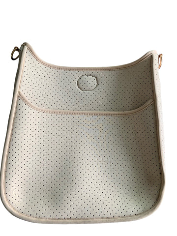 Ahdorned Perforated Neoprene Crossbody Classic Size Messenger- Strap not included
