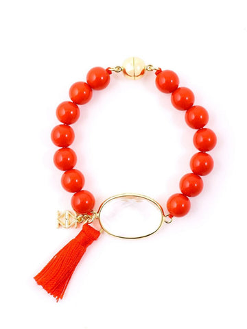 Casual Friday Tassel Bracelet - Orange