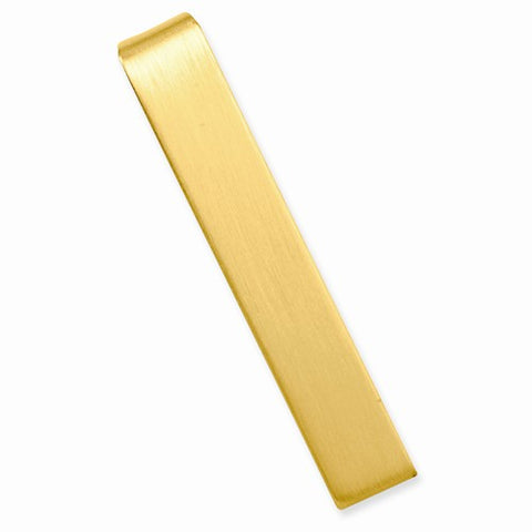 Gold-plated Satin Tie Bar