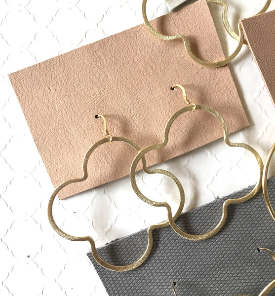 Gold Quatrefoil Dangles by LIV Rose