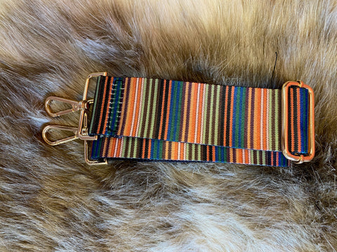 Ahdorned Boho Mini Stripe Strap with Gold Hardware