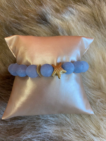 LIV Rose Starfish Bead Stretch Bracelet