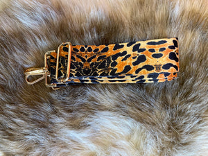 Ahdorned Cheetah Print Adjustable Strap with Gold Hardware