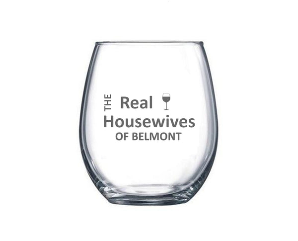 Custom Etched Stemless Wine Glasses
