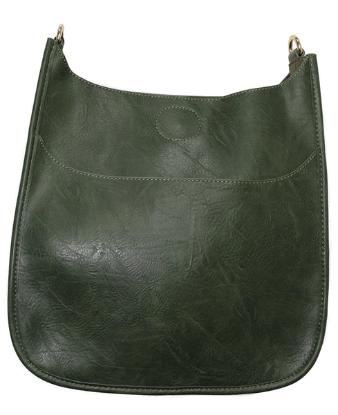 Ahdorned Vegan Leather Crossbody Classic Size Messenger- Strap not included - Various Colors