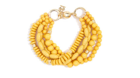 Mixed Beads Layered Bracelet - Yellow