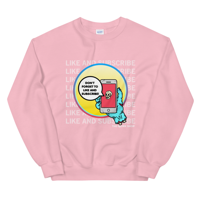 Like and Subscribe Crewneck | smash that like button, youtube, notification bell, selfie, youtuber, influencer tshirt, tee, t-shirt