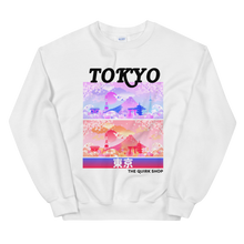 Load image into Gallery viewer, Dreaming In Tokyo Crewneck Sweatshirt | Japan t-shirt, traveling to japan, travel tee, asian tshirt, anime shirt, japan, otaku, geek