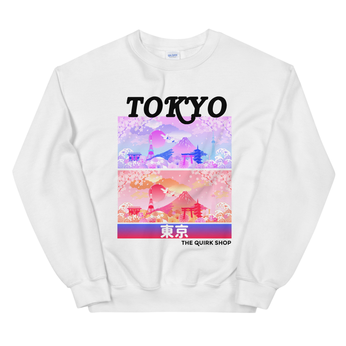 Dreaming In Tokyo Crewneck Sweatshirt | Japan t-shirt, traveling to japan, travel tee, asian tshirt, anime shirt, japan, otaku, geek