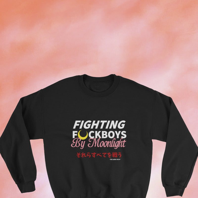 Fighting F Boys By Moonlight Crewneck
