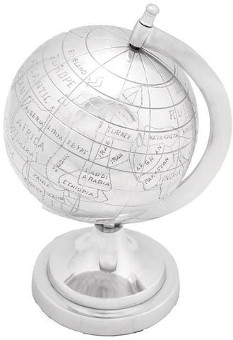 "Bayden Hill Alum Decor Globe 7""W, 10""H - Peazz.com"