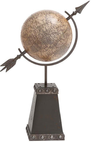 "Bayden Hill Metal Globe Decor 17""W, 40""H - Peazz.com"