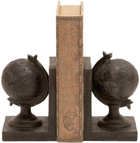 "Bayden Hill Ps Globe Bookend S/2 7""H, 5""W - Peazz.com"