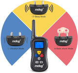 MDOG2 MD2-008 Wireless Dog Remote Training Collar with Shock, Vibration and Tone - Peazz.com - 4
