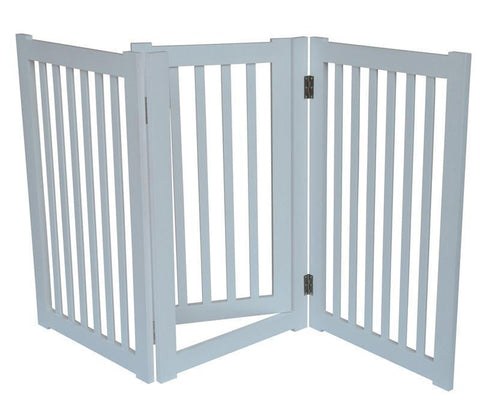 "MDOG2 MK806-600WH 3-Panel Free Standing Pet Gate 60""W x 32""H - White - Peazz.com"