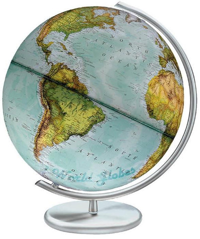 "National Geographic Globes 14 30 83S The Metropolis - 12"" Diameter Illuminated Blue Ocean Globe with Metal Table Top Base - Peazz.com"