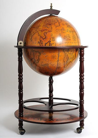 Globe Drinks Cabinet 450mm Floor Stand - Red NG001 - TrueGlobes