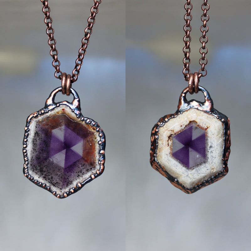 Trapiche-like Amethyst Necklace