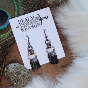 Black Tourmaline Earrings - C