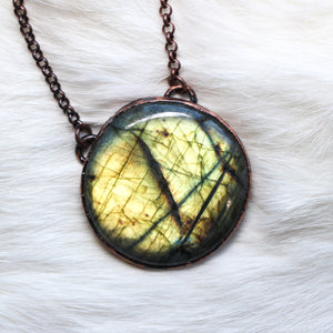 Round Labradorite Necklace