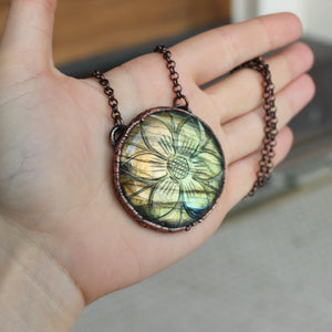 Carved Labradorite Necklace