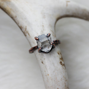 Prong Set Herkimer Diamond Ring size 6.75