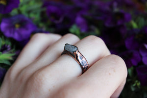 Raw Blue Topaz Ring Size 8