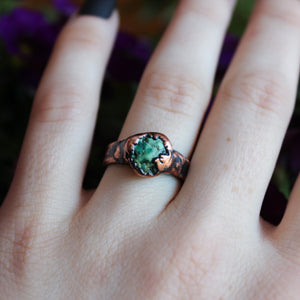 Raw Turquoise Ring Size 9.25