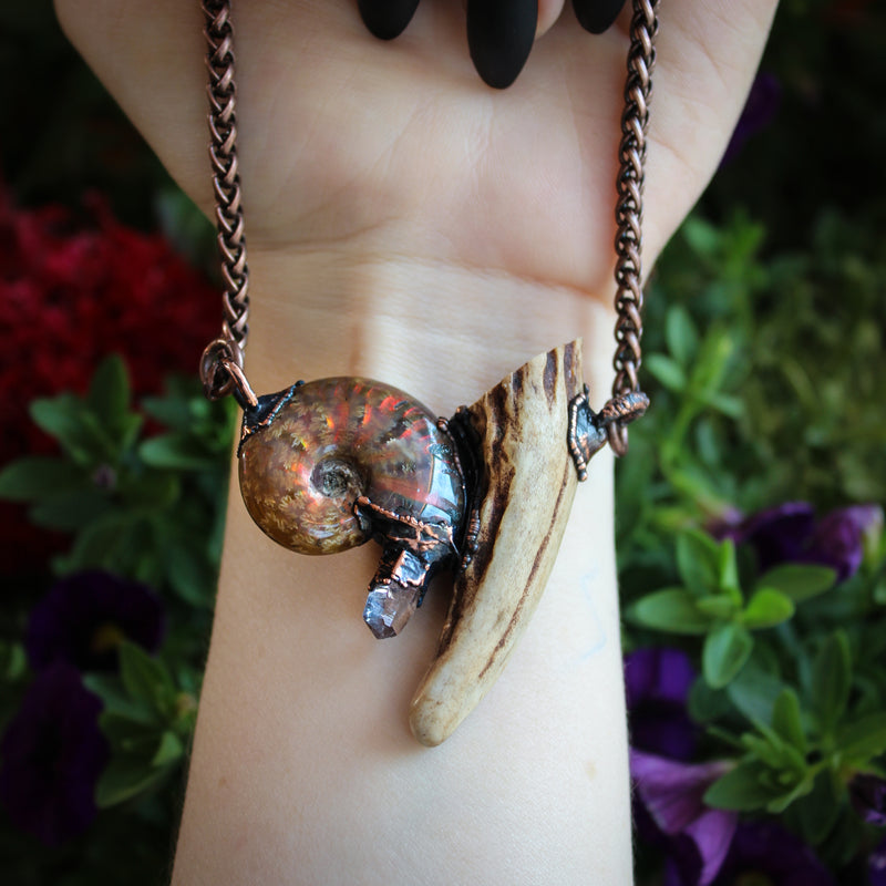 Forest Fossil Necklace