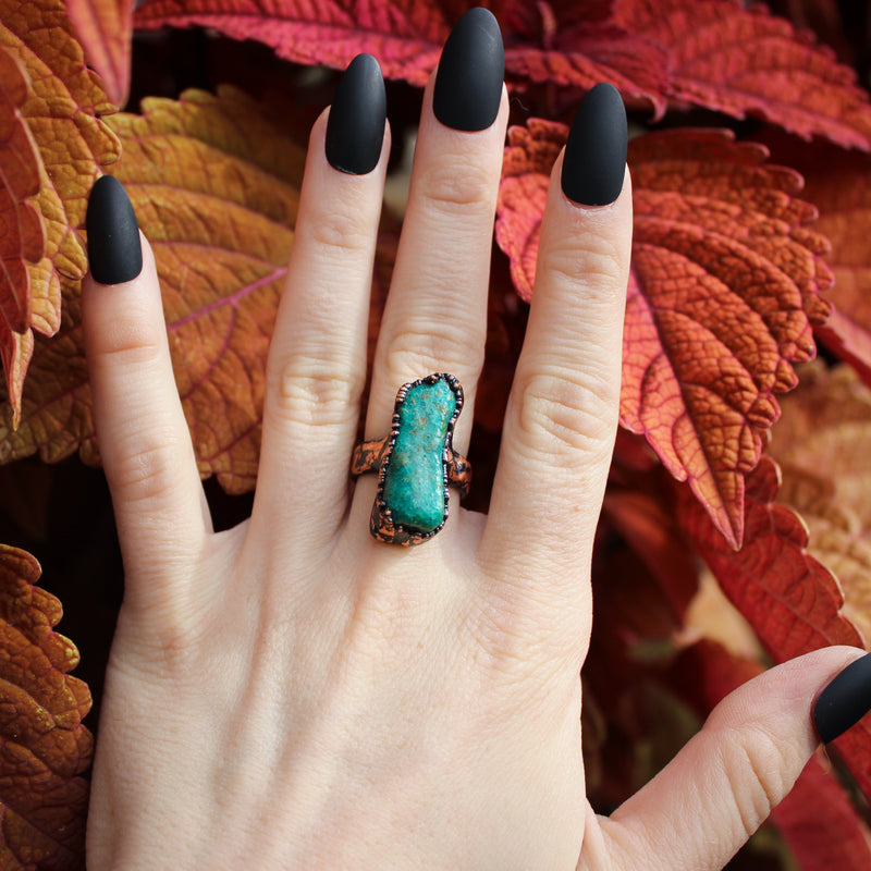 Chrysocolla Ring size 6.75