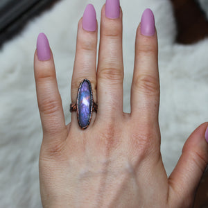 Purple Labradorite Ring Size 5.75