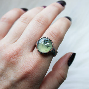 Prehnite and Epidote Ring size 10