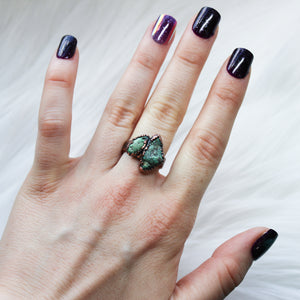 Double Turquoise Ring size 7.25