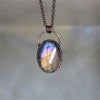 Small Purple Labradorite Necklace - 5