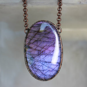 Giant Purple Labradorite - 2