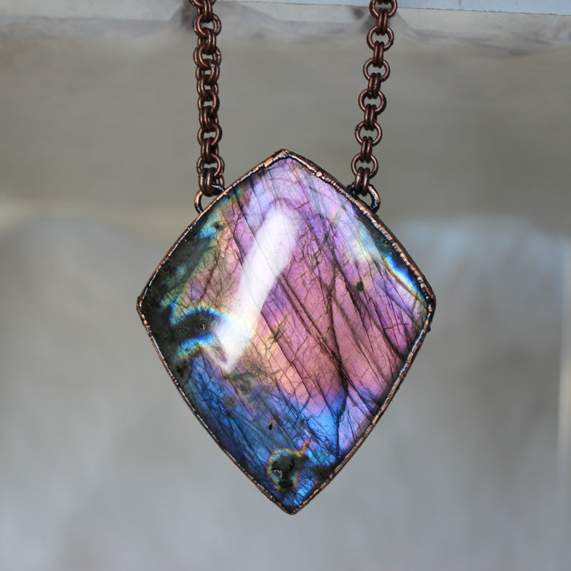 Giant Purple Labradorite - 1